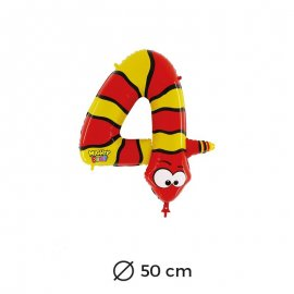 Globo Serpiente Numero 4 Foil 50 cm