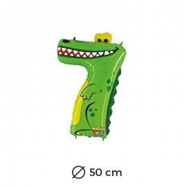 Globo Cocodrilo Numero 7 Foil 50 cm