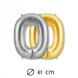 Globo Numero 0 Foil 81 cm