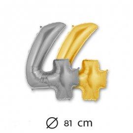 Globo Numero 4 Foil 81 cm