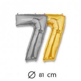 Globo Numero 7 Foil 80 cm