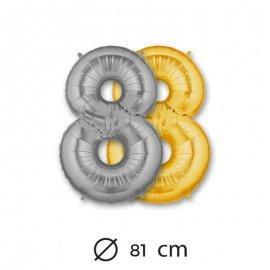 Globo Numero 8 Foil 81 cm