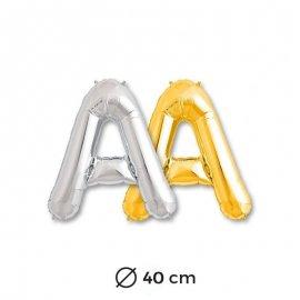 Globo Letra A Foil 40 cm