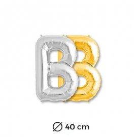 Globo Letra B Foil 40 cm