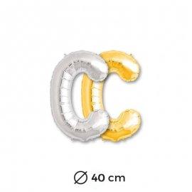Globo Letra C Foil 40 cm
