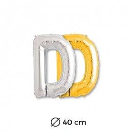 Globo Letra D Foil 40 cm