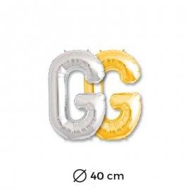 Globo Letra G Foil 40 cm