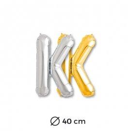 Globo Letra K Foil 40 cm