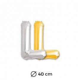 Globo Letra L Foil 40 cm