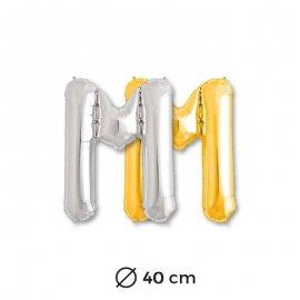 Globo Letra M Foil 40 cm