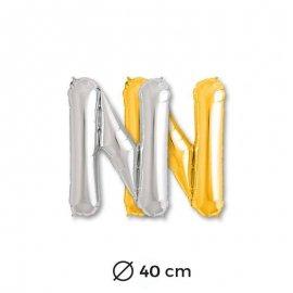Globo Letra N Foil 40 cm