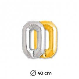 Globo Letra O Foil 40 cm