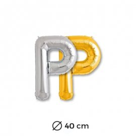 Globo Letra P Foil 40 cm