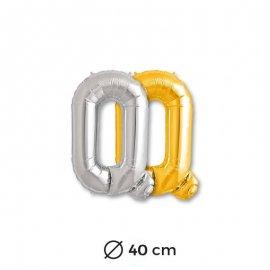 Globo Letra Q Foil 40 cm