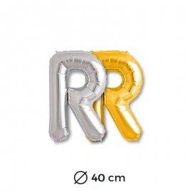 Globo Letra R Foil 40 cm