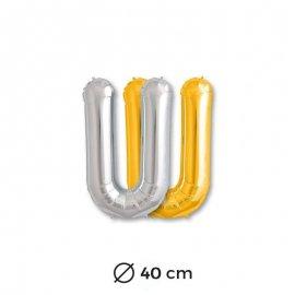 Globo Letra U Foil 40 cm