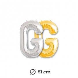 Globo Letra G Foil 81 cm
