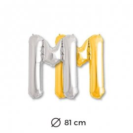 Globo Letra M Foil 81 cm