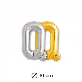 Globo Letra Q Foil 81 cm