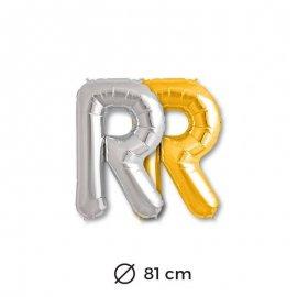 Globo Letra R Foil 81 cm