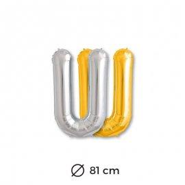 Globo Letra U Foil 86 cm