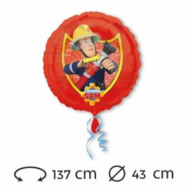 Globo de Sam el Bombero Foil 43 cm
