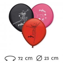 8 Globos Lady Bug Látex