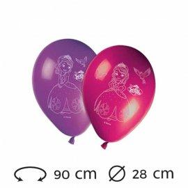 8 Globos Princesa Sofia Látex 28 cm