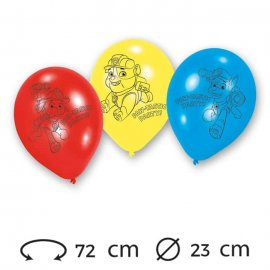globos patrulla canina ltex cm