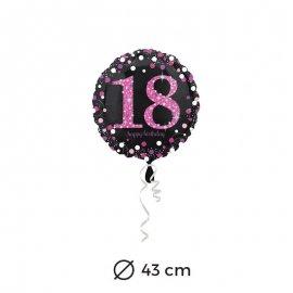 Globo 18 años Elegant Pink 43 cm