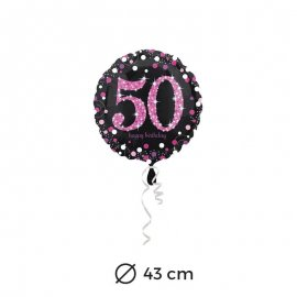 Globo 50 años Elegant Pink 43 cm