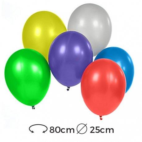 Globos Metalizados Látex 25 cm