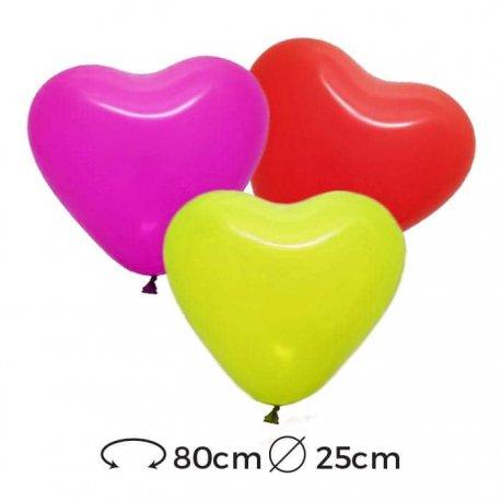 Globos Corazón Látex 25 cm