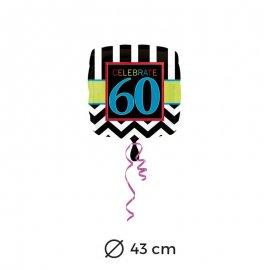 Globo 60 años Chevron 43 cm