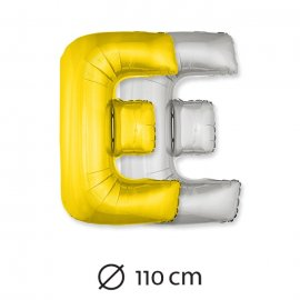 Globo Letra E Foil 110 cm