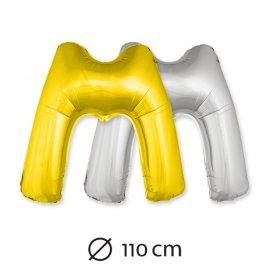Globo Letra M Foil 110 cm