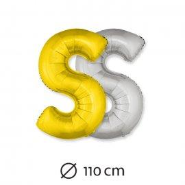 Globo Letra S Foil 110 cm