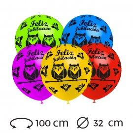 Globos Feliz Jubilación Redondos 32 cm