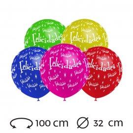 Globos Felicidades Redondos 32 cm