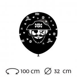 Globos Pirata Redondos 32 cm