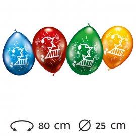 Globos Número 2 Redondos M02 25 cm