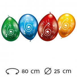 Globos Número 6 Redondos M02 25 cm