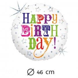 Globo Happy Birthday Foil Redondo 46 cm