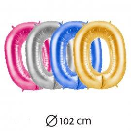 Globo Número 0 Foil 102 cm
