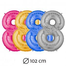 Globo Número 8 Foil 102 cm