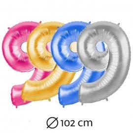 Globo Número 9 Foil 100 cm