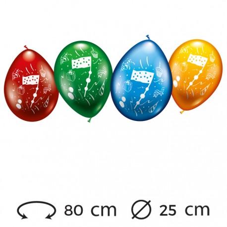 Globos Número 7 Redondos M02 25 cm