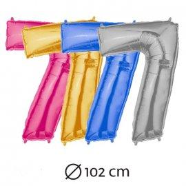 Globo Número 7 Foil 102 cm