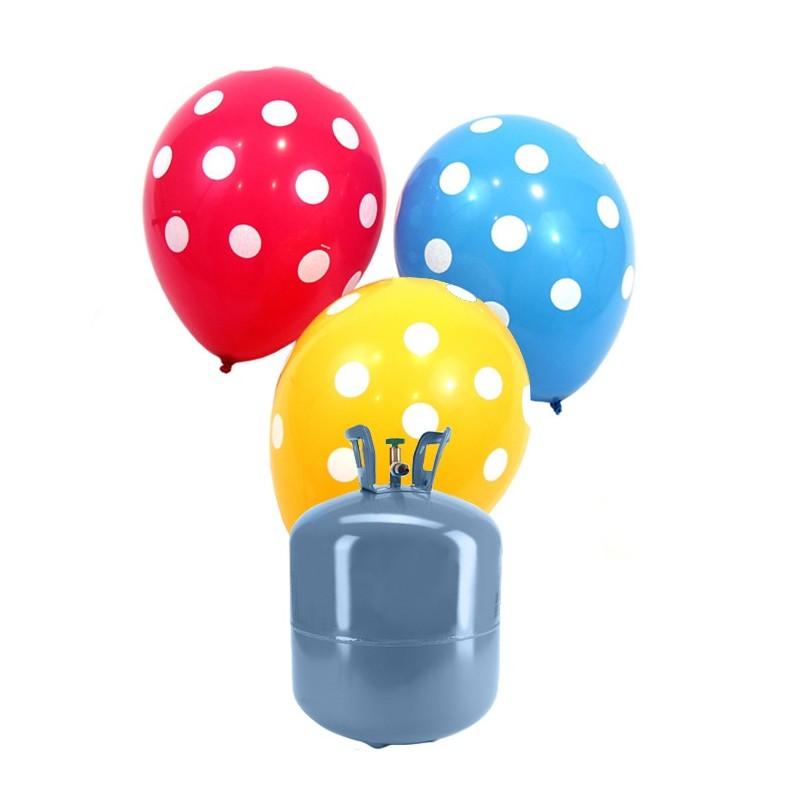 Botella de helio peque a con 30 globos lunares - Llenar globos con helio ...