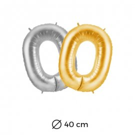 Globo Numero 0 Foil 35 cm